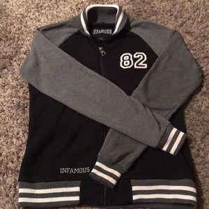 Infamous varsity jacket